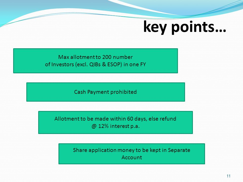key points… Max allotment to 200 number