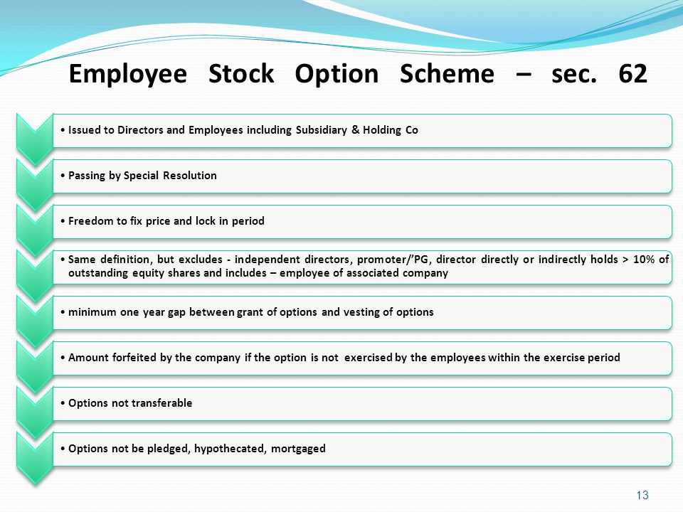 Company stock options definition