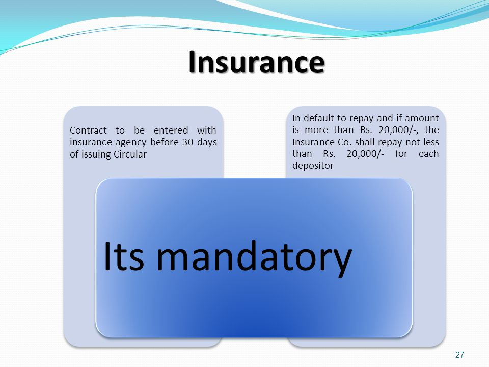 Insurance Its mandatory