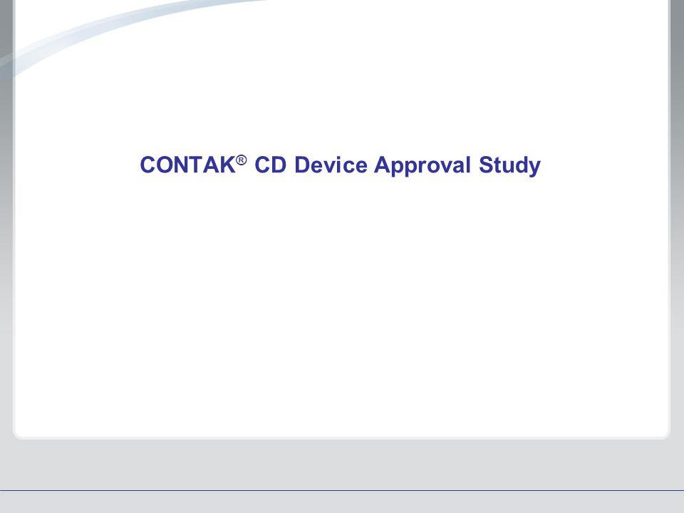 CONTAK® CD Device Approval Study