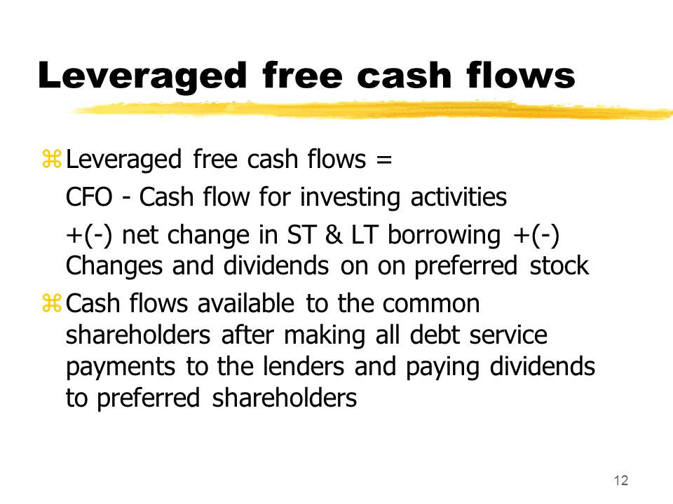 Leveraged free cash flows