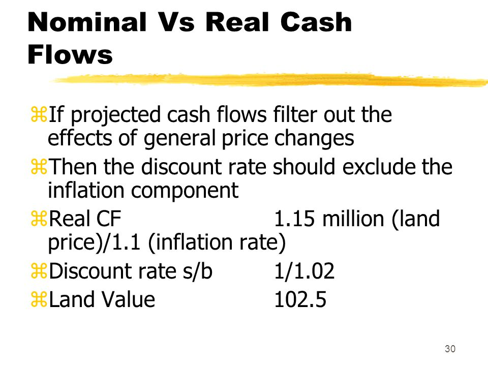 Nominal Vs Real Cash Flows