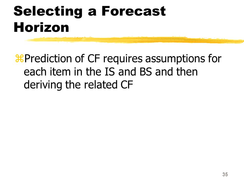 Selecting a Forecast Horizon