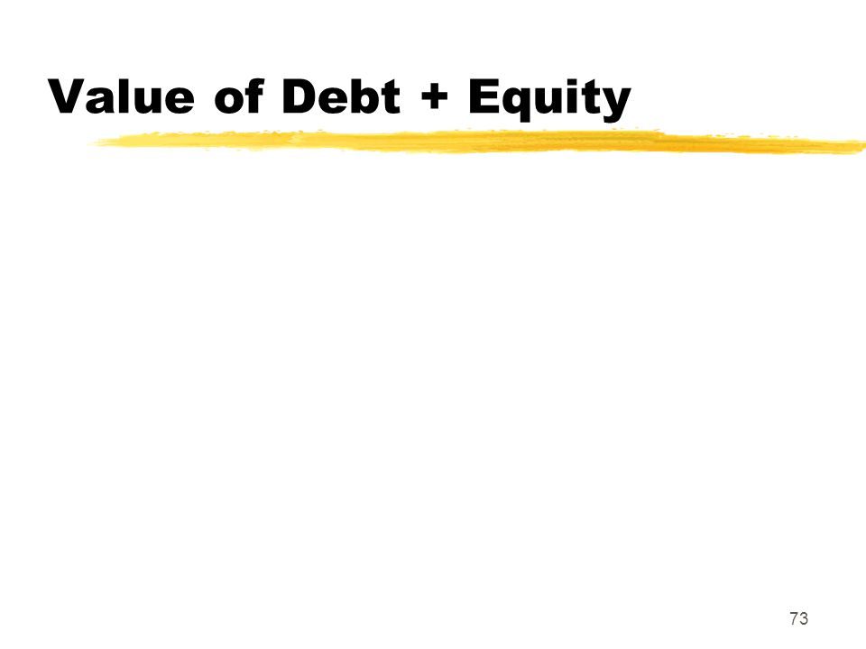 Value of Debt + Equity