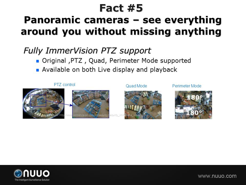 Fact #5 Panoramic cameras – see everything around you without missing anything