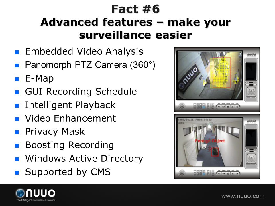 Fact #6 Advanced features – make your surveillance easier