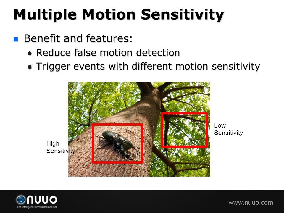 Multiple Motion Sensitivity