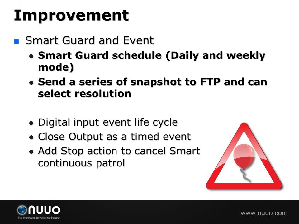 Improvement Smart Guard and Event