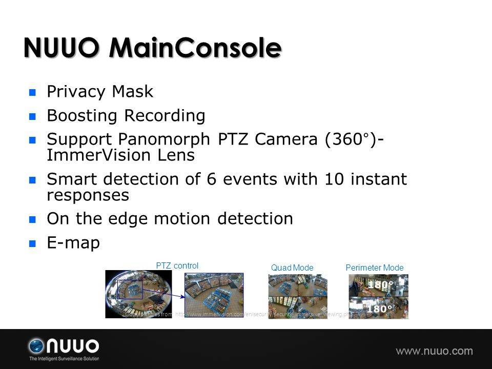 NUUO MainConsole Privacy Mask Boosting Recording