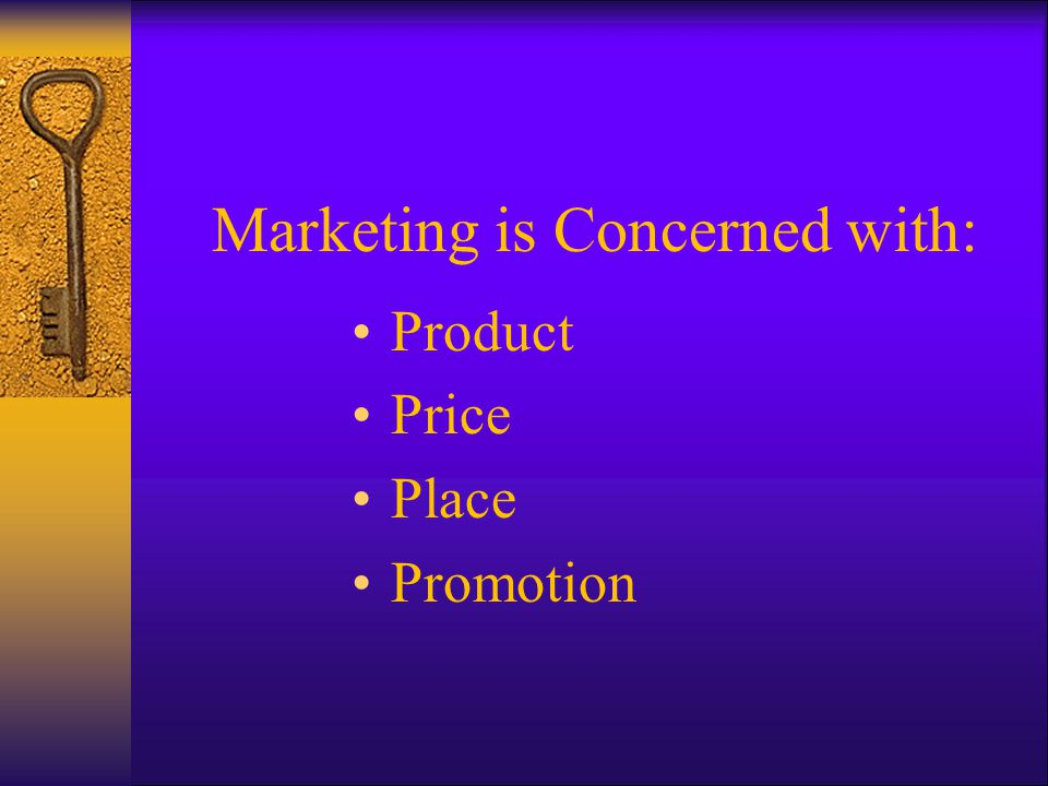 Marketing is Concerned with: