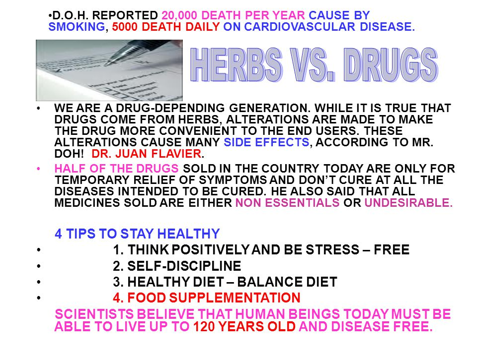 HERBS VS. DRUGS 4 TIPS TO STAY HEALTHY