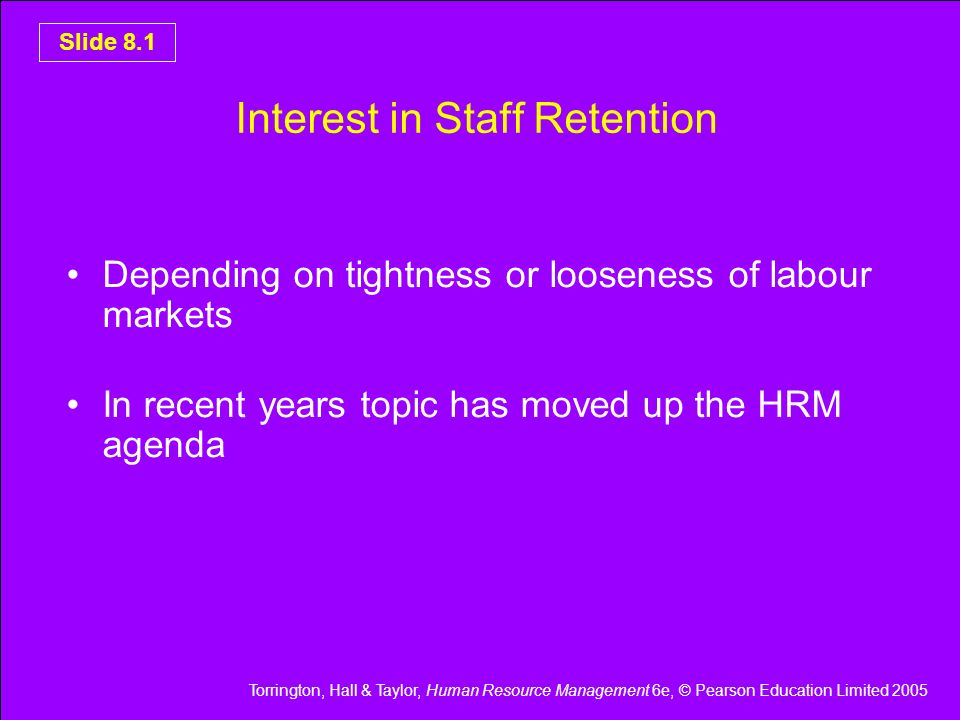 Interest in Staff Retention