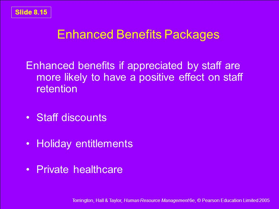 Enhanced Benefits Packages