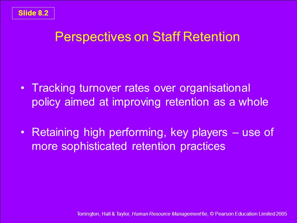 Perspectives on Staff Retention