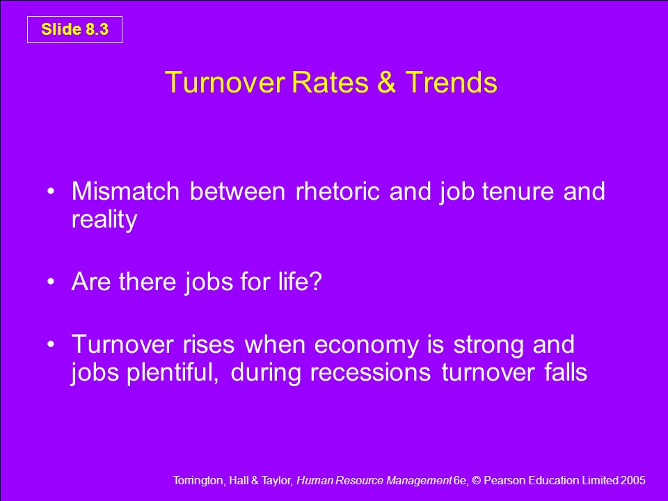 Turnover Rates & Trends