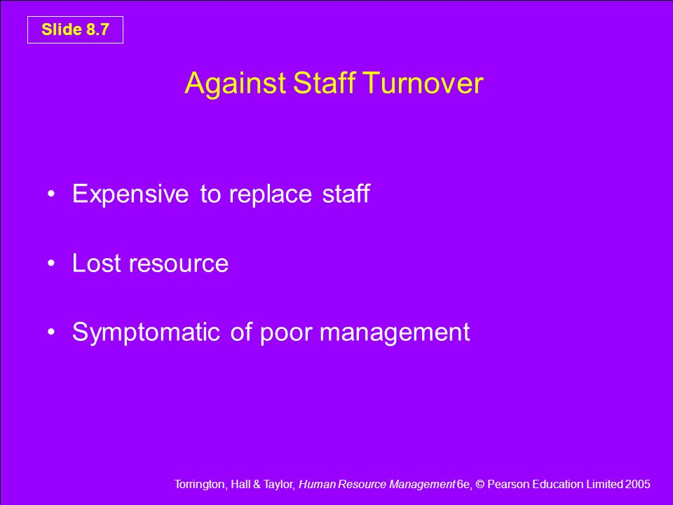 Against Staff Turnover