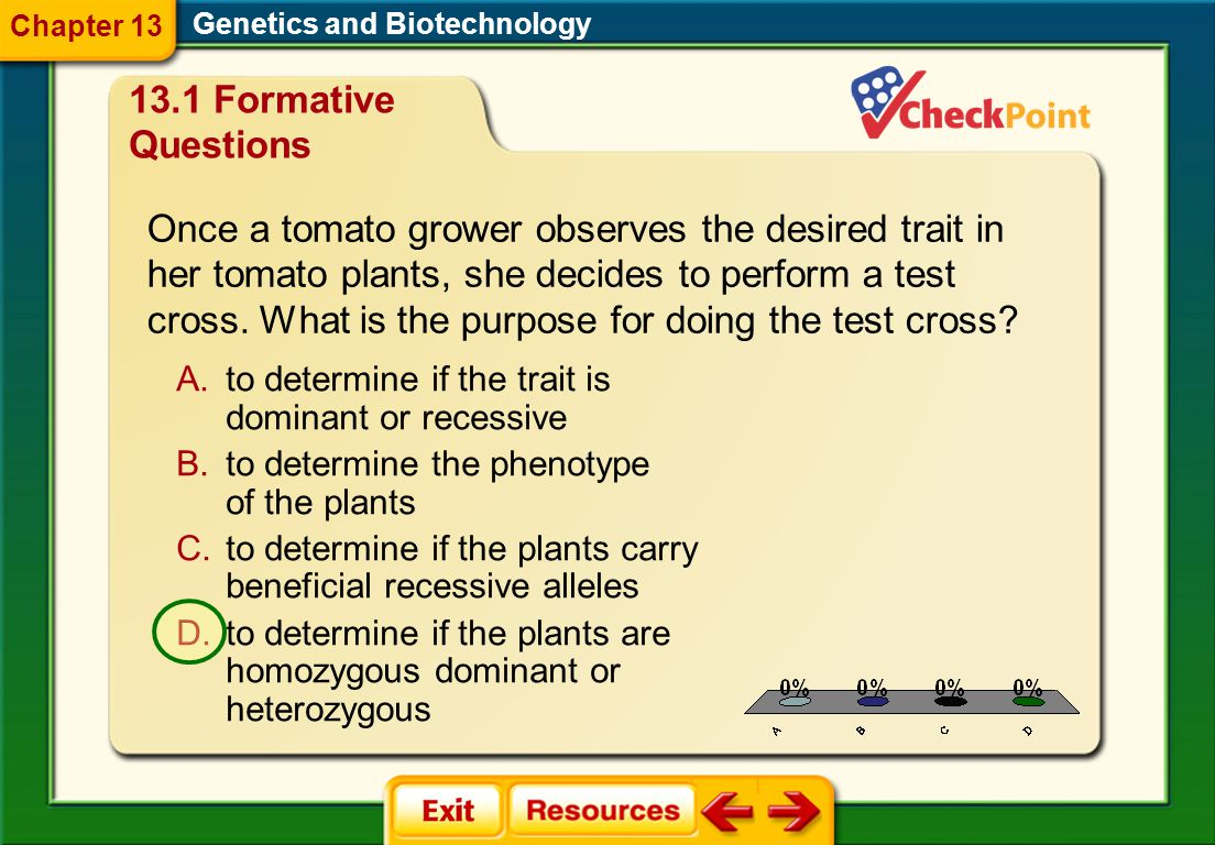 Chapter 13 Genetics and Biotechnology. 13.1 Formative Questions.