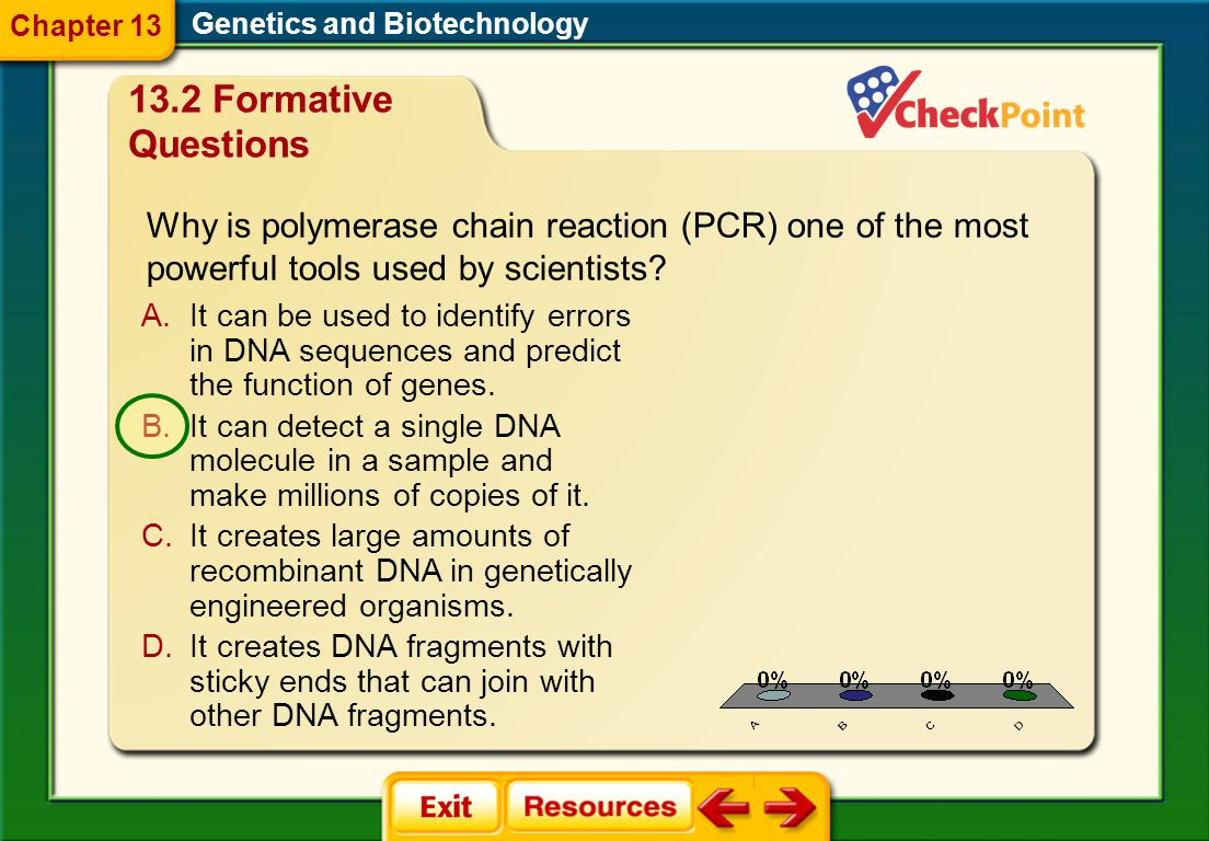 Chapter 13 Genetics and Biotechnology. 13.2 Formative Questions.