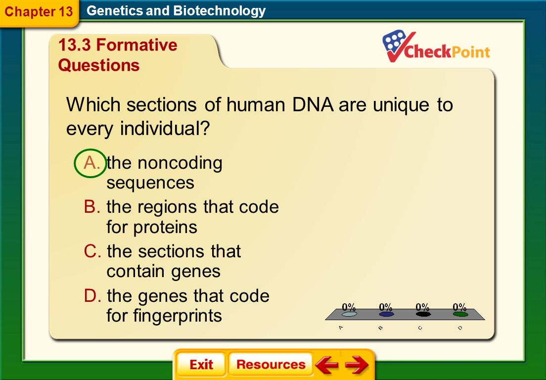Which sections of human DNA are unique to every individual