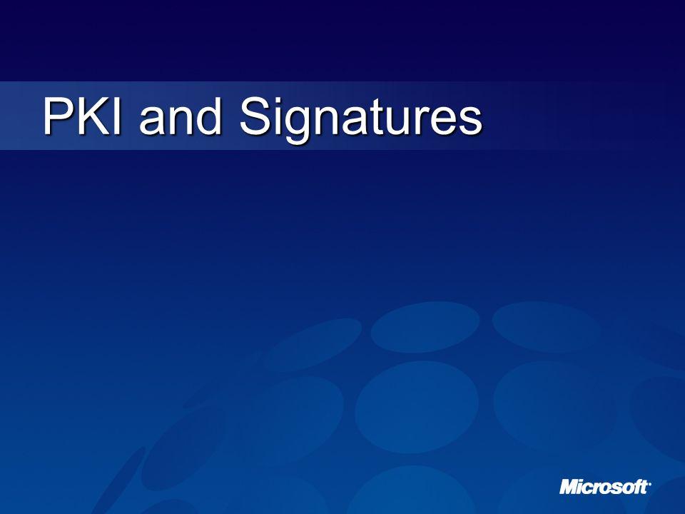 PKI and Signatures