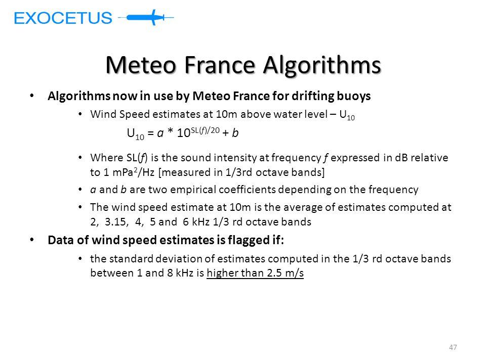 Meteo France Algorithms