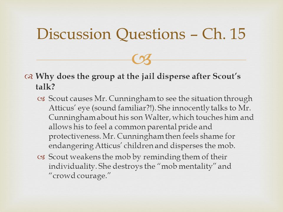 Discussion Questions – Ch. 15