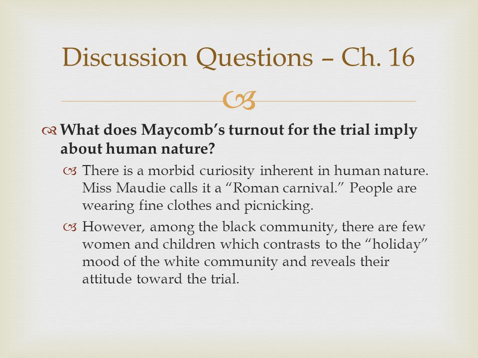 Discussion Questions – Ch. 16