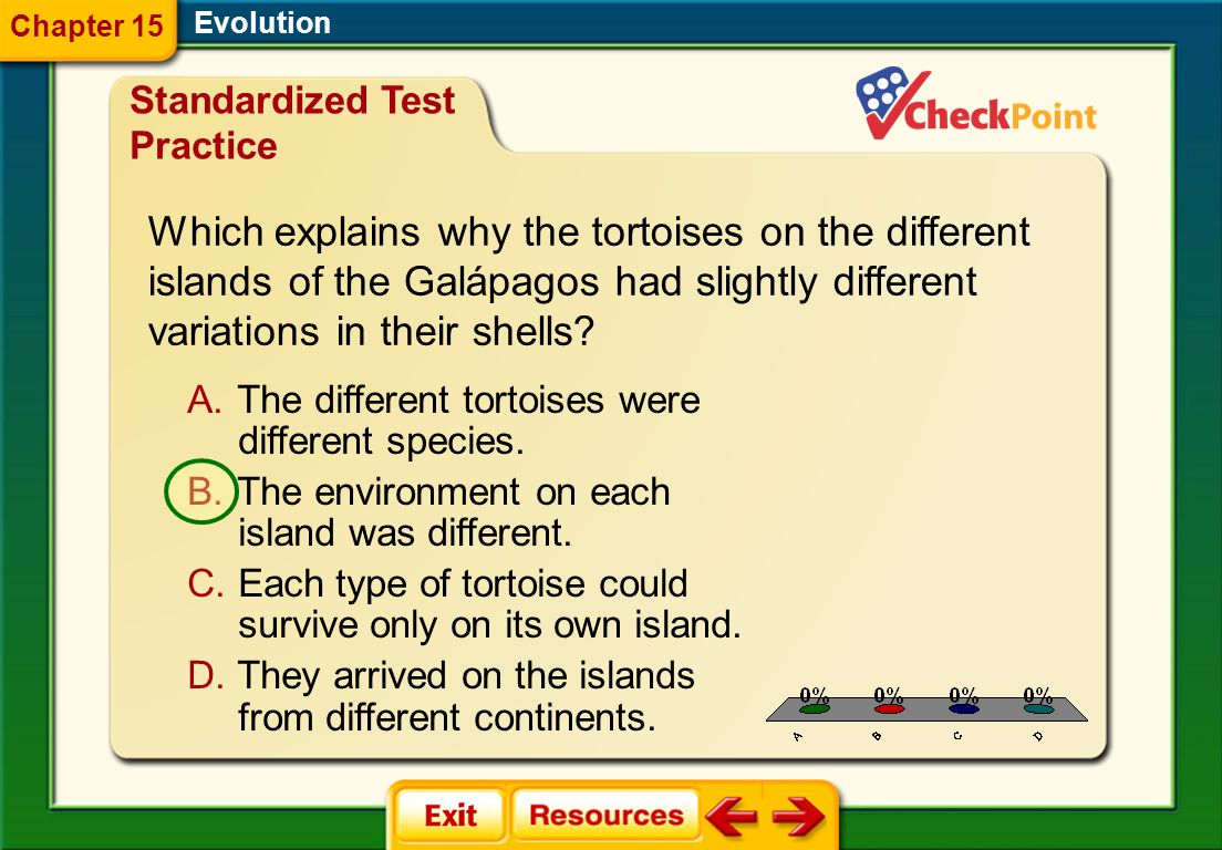 Which explains why the tortoises on the different