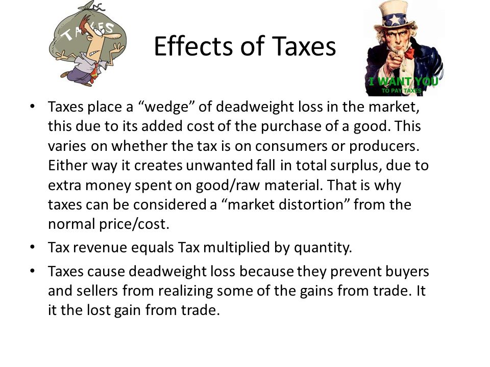 Effects of Taxes