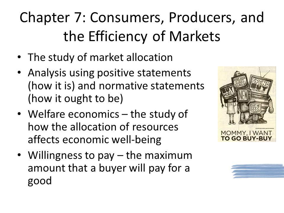 Chapter 7: Consumers, Producers, and the Efficiency of Markets