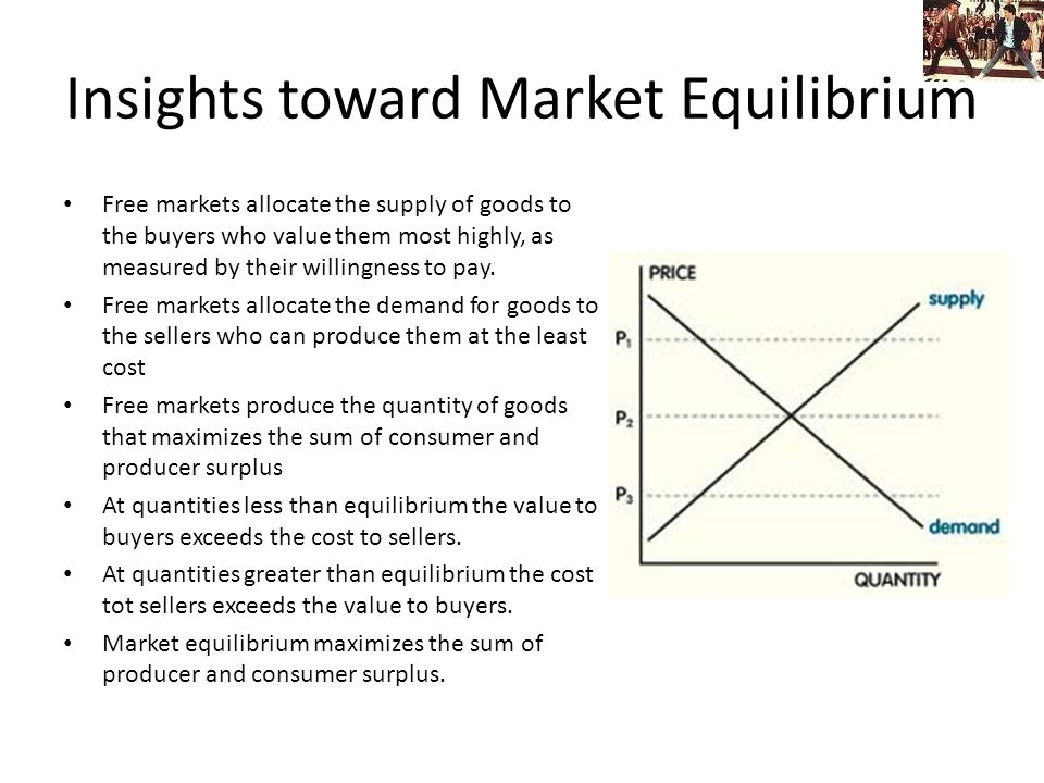 Insights toward Market Equilibrium