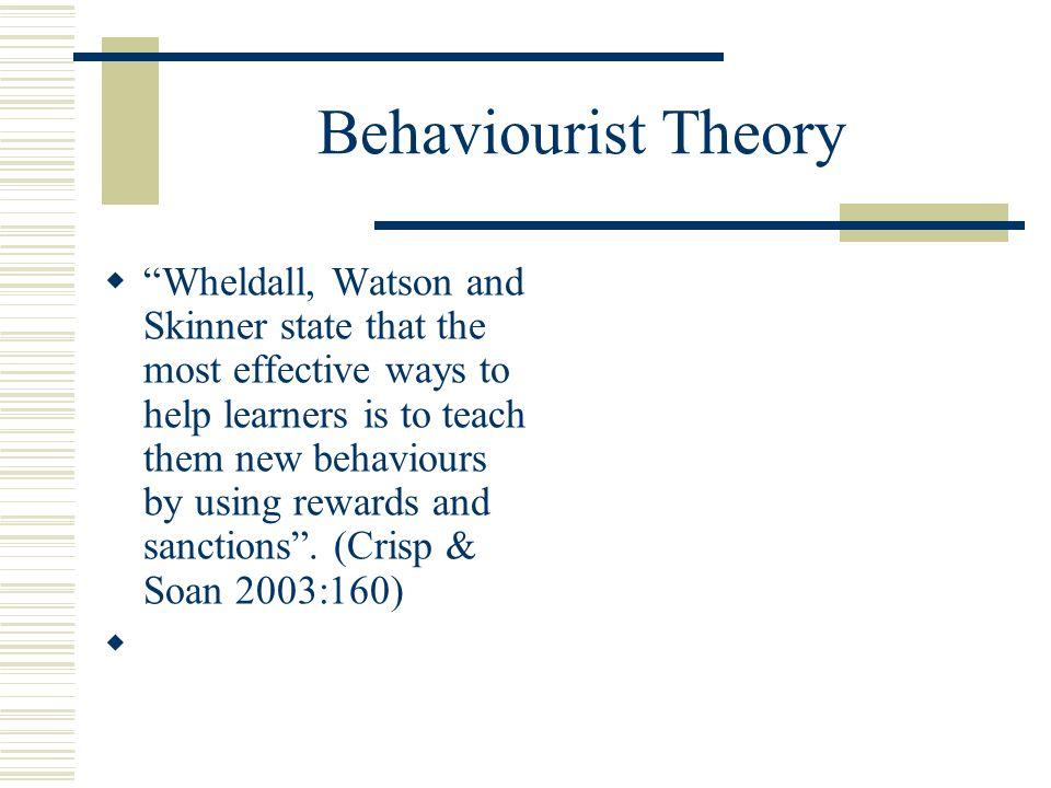 Behaviourist Theory