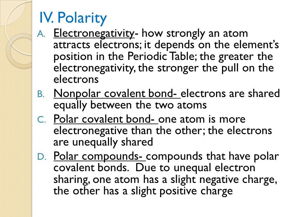 IV. Polarity