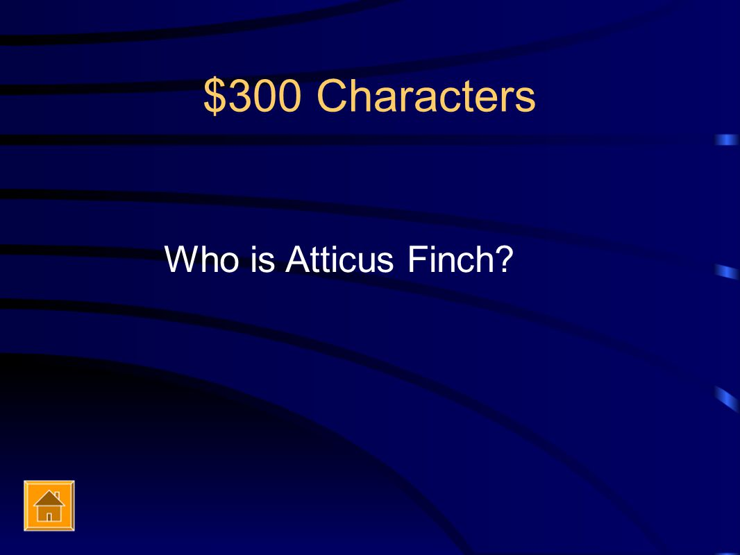 $300 Characters Who is Atticus Finch