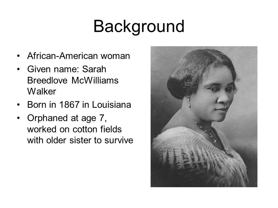 Background African-American woman