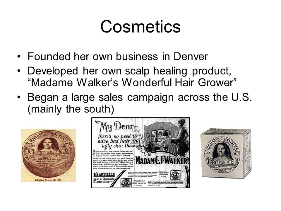 Cosmetics Founded her own business in Denver