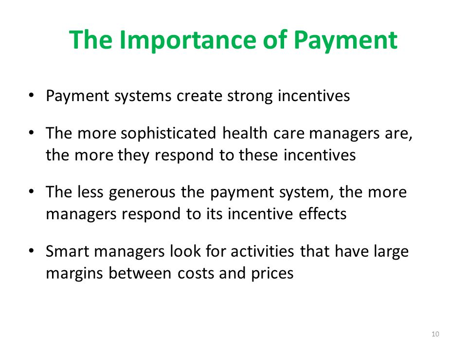 The Importance of Payment