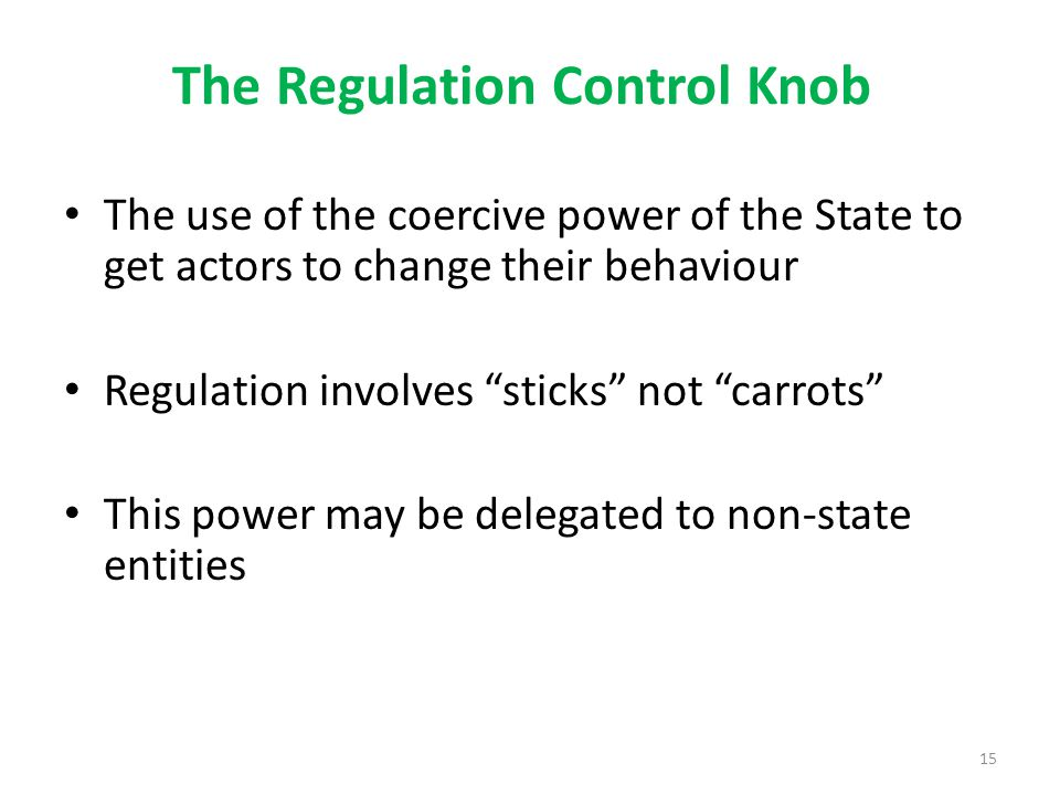 The Regulation Control Knob