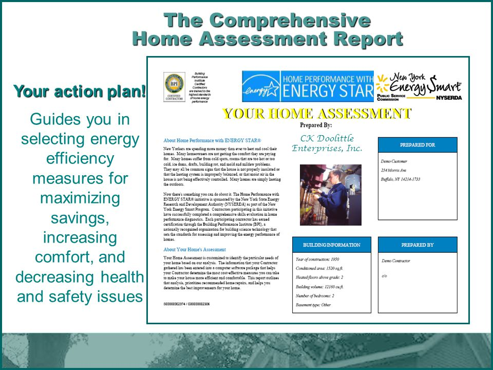 The Comprehensive Home Assessment Report