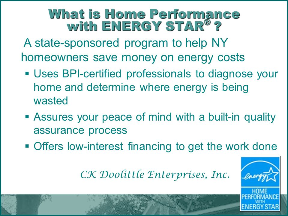 What is Home Performance with ENERGY STAR®
