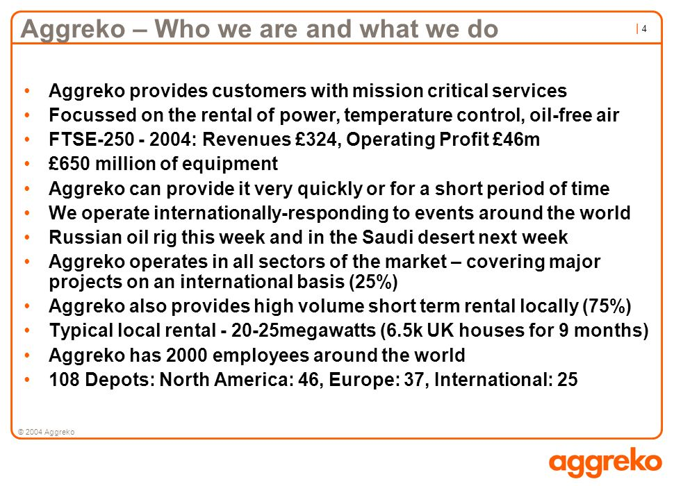 Aggreko – Who we are and what we do