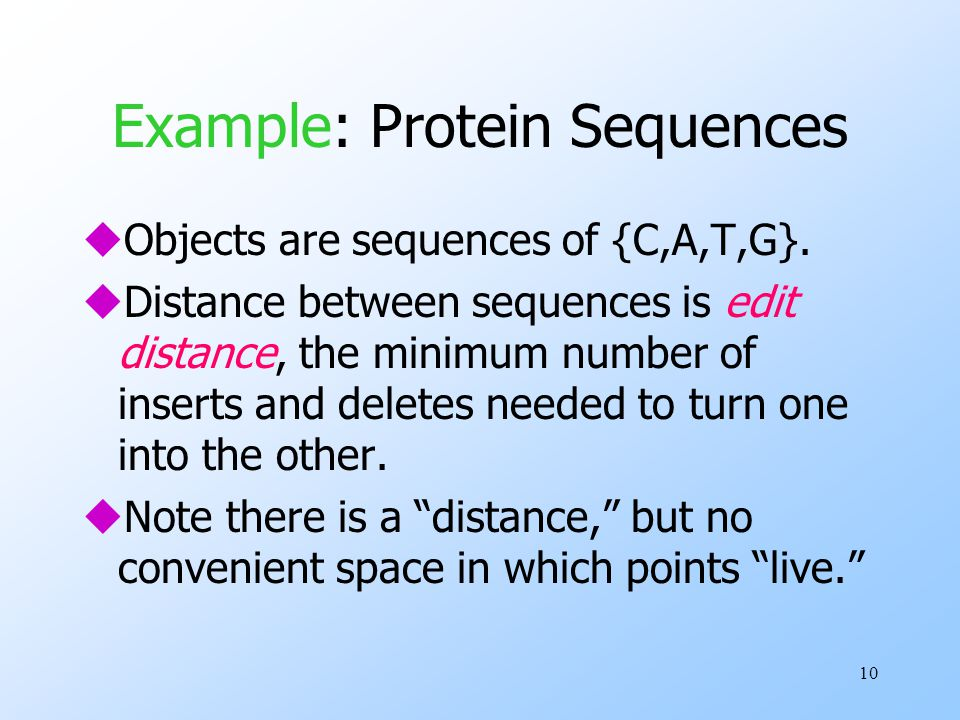 Example: Protein Sequences
