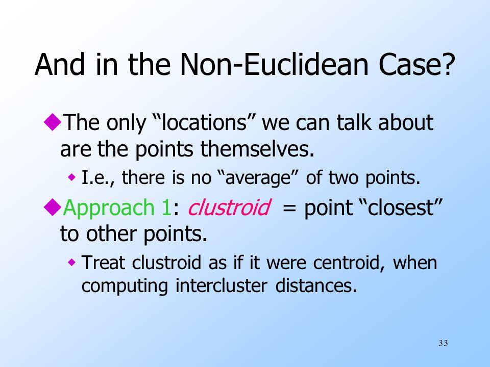 And in the Non-Euclidean Case