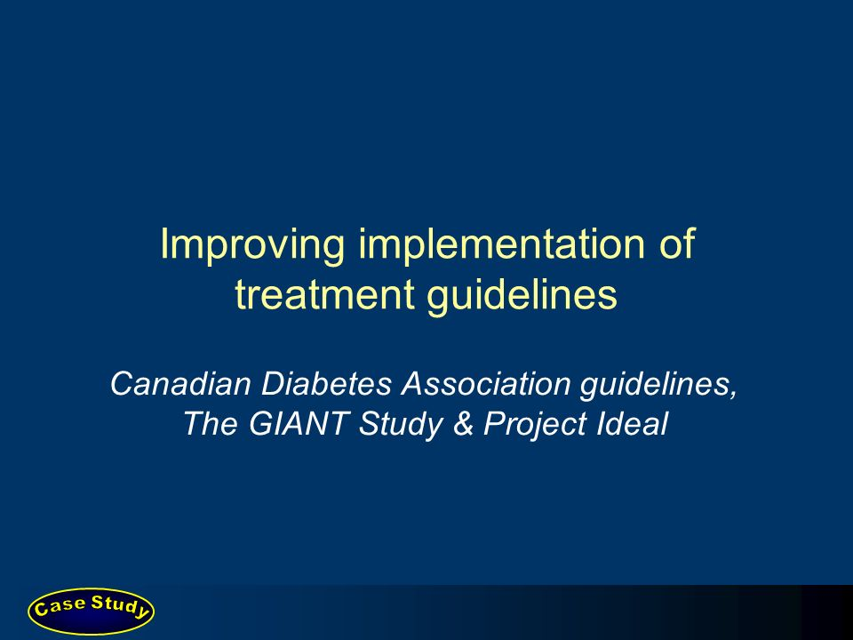 Improving implementation of treatment guidelines