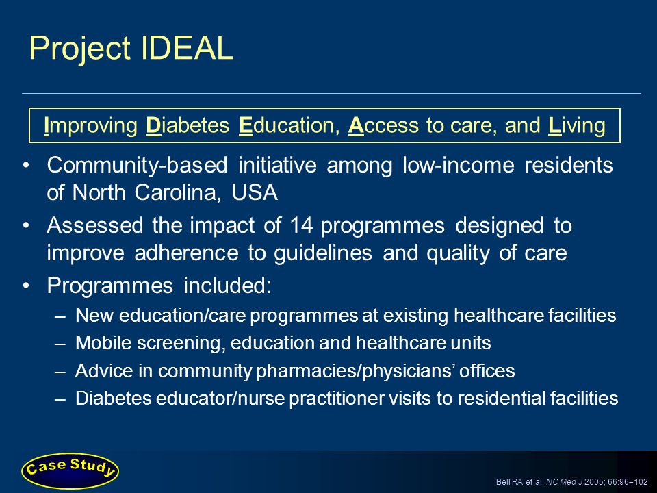 Improving Diabetes Education, Access to care, and Living