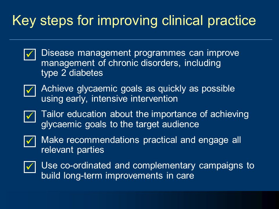 Key steps for improving clinical practice