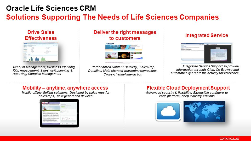 Oracle Life Sciences CRM Solutions Supporting The Needs of Life Sciences Companies