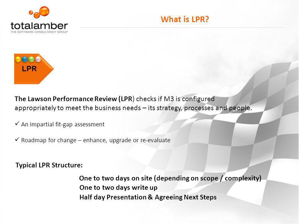 What is LPR LPR.