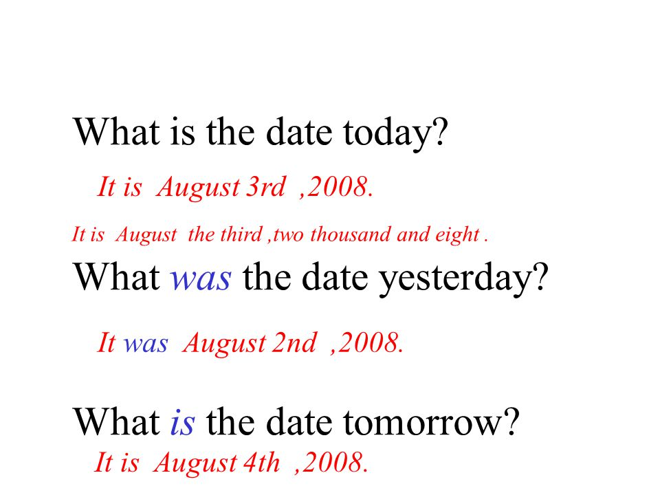 What was the date yesterday