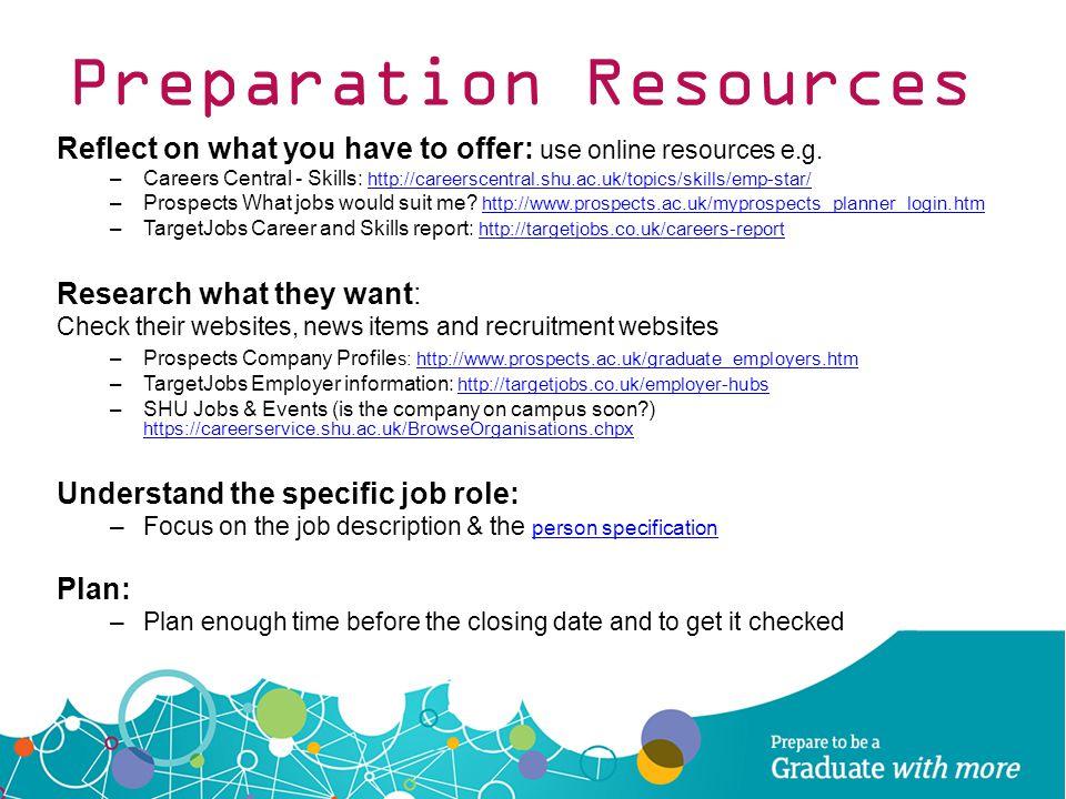 Preparation Resources